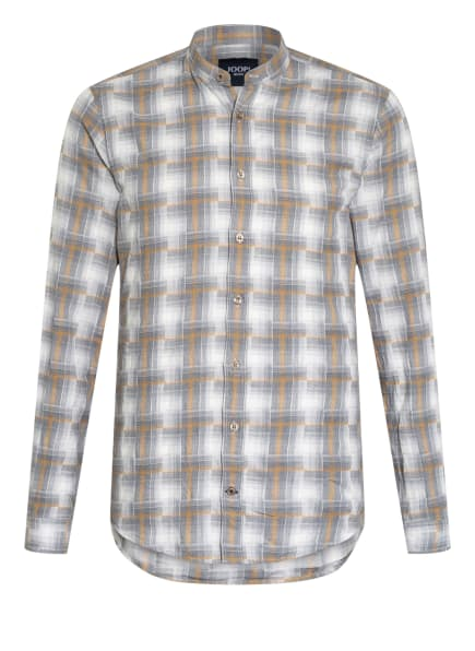 JOOP! JEANS Hemd HEDDE Slim Fit mit Stehkragen, Farbe: GRAU/ WEISS/ DUNKELGELB (Bild 1)