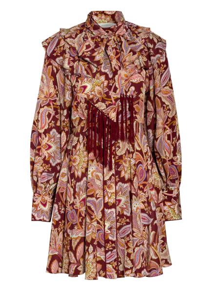 ZIMMERMANN Hemdblusenkleid CHARM aus Seide, Farbe: ALTROSA/ ECRU/ DUNKELGELB (Bild 1)