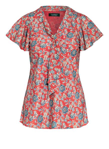 LAUREN RALPH LAUREN Blusenshirt mit Schluppe , Farbe: ROT/ BLAU/ CREME (Bild 1)