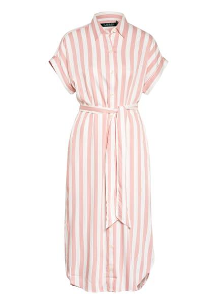 LAUREN RALPH LAUREN Hemdblusenkleid , Farbe: ROSA/ WEISS (Bild 1)