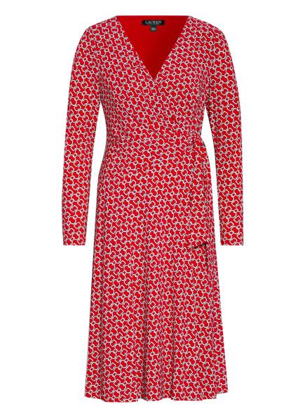 LAUREN RALPH LAUREN Jerseykleid in Wickeloptik , Farbe: ROT/ WEISS (Bild 1)
