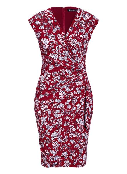 LAUREN RALPH LAUREN Kleid in Wickeloptik, Farbe: DUNKELROT/ WEISS (Bild 1)
