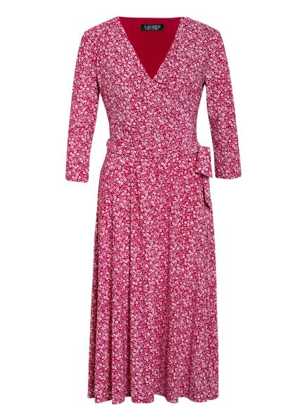 LAUREN RALPH LAUREN Jerseykleid in Wickeloptik , Farbe: FUCHSIA/ WEISS (Bild 1)