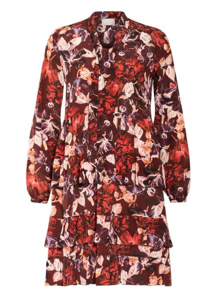 Mrs & HUGS Schluppenkleid aus Seide, Farbe: DUNKELROT/ LILA/ HELLROSÉ (Bild 1)