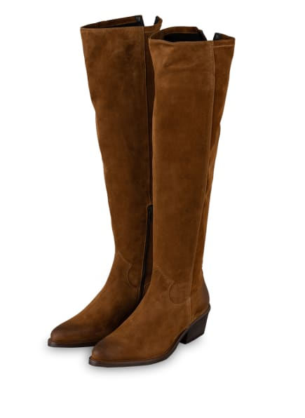 DONNA CAROLINA Cowboy Stiefel, Farbe: BRAUN (Bild 1)