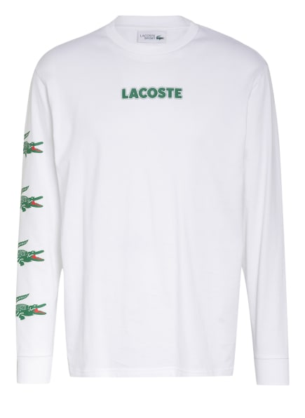 LACOSTE Sweatshirt , Farbe: WEISS/ GRÜN (Bild 1)