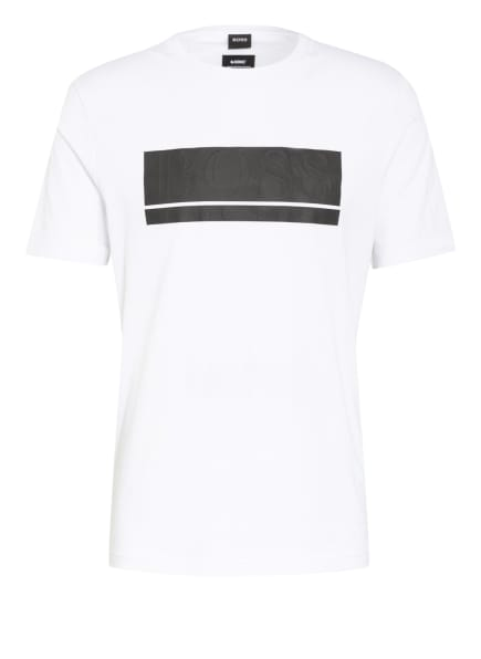 BOSS T-Shirt TEEONIC, Farbe: WEISS/ SCHWARZ (Bild 1)