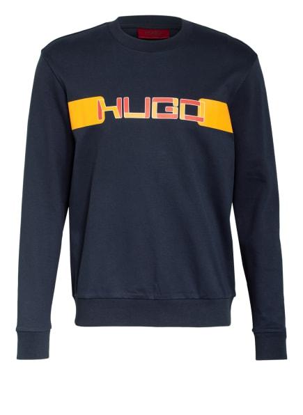HUGO Sweatshirt DECAY , Farbe: DUNKELBLAU/ ORANGE (Bild 1)