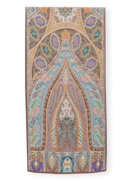 ROECKL Tuch ALHAMBRA mit Seide , Farbe: TAUPE/ ORANGE/ LILA (Bild 1)