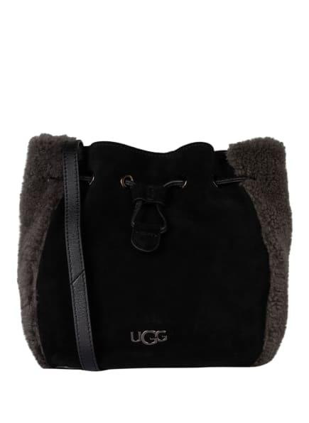 UGG Rucksack FEY 2 WAY mit Echtfellbesatz, Farbe: SCHWARZ (Bild 1)