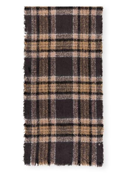 LOEVENICH Schal, Farbe: DUNKELGRAU/ CAMEL (Bild 1)