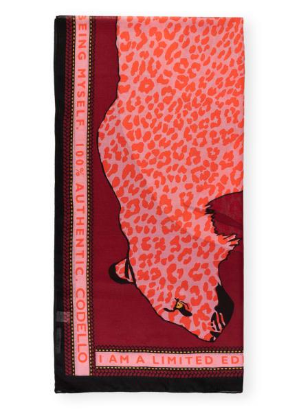 CODELLO Schal, Farbe: DUNKELROT/ ROSA/ ORANGE (Bild 1)