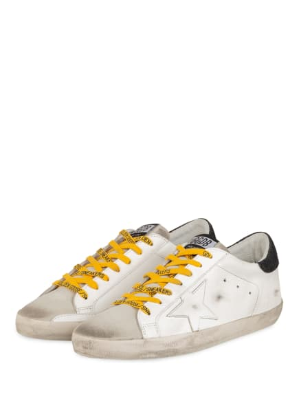 GOLDEN GOOSE DELUXE BRAND Sneaker SUPERSTAR, Farbe: WEISS/ HELLGRAU (Bild 1)