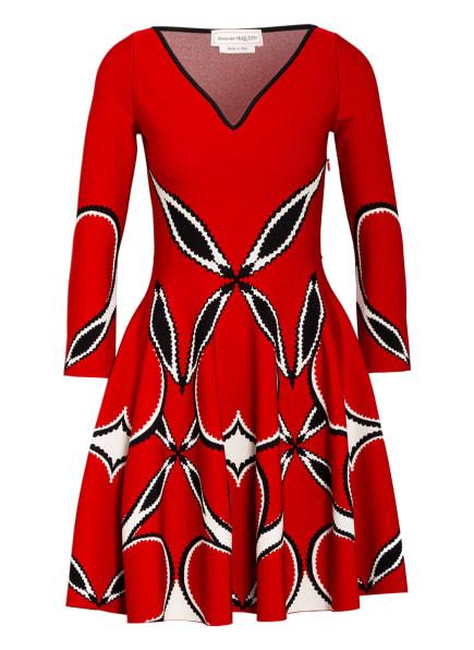 ALEXANDER McQUEEN Kleid mit 3/4-Arm, Farbe: ROT/ WEISS/ SCHWARZ (Bild 1)