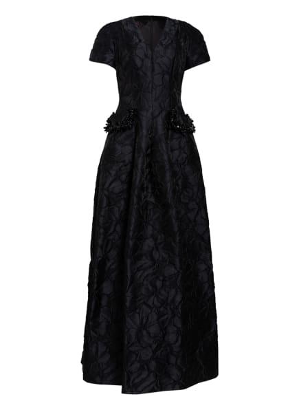 TALBOT RUNHOF Jacquard-Abendkleid mit Schmucksteinbesatz, Farbe: SCHWARZ (Bild 1)