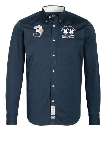LA MARTINA Hemd POPLIN Regular Fit, Farbe: DUNKELBLAU/ WEISS (Bild 1)