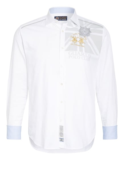 LA MARTINA Oxfordhemd Regular Fit, Farbe: WEISS/ SILBER/ GOLD (Bild 1)