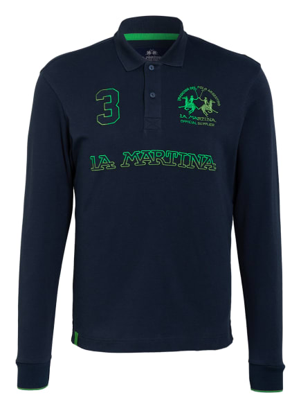LA MARTINA Jersey-Poloshirt, Farbe: DUNKELBLAU (Bild 1)