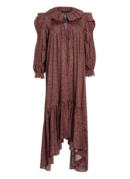 HORROR VACUI Kleid DEFENSIA , Farbe: DUNKELROT/ GRÜN/ SCHWARZ (Bild 1)