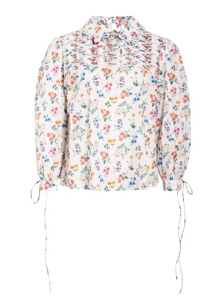 HORROR VACUI Bluse mit 3/4-Arm, Farbe: WEISS/ BLAU/ ROT (Bild 1)