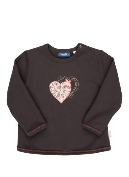 Sanetta KIDSWEAR Pullover mit Glitzergarn, Farbe: GRAU/ ROSA (Bild 1)