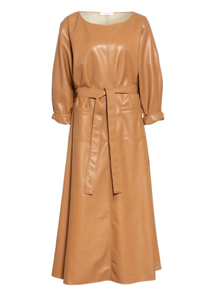 AERON Kleid OFELIA in Lederoptik, Farbe: CAMEL (Bild 1)