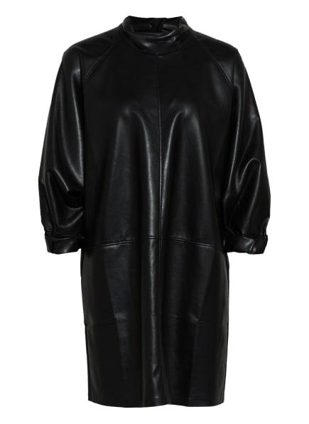 AERON Oversized-Kleid SHADIA in Lederoptik mit 3/4-Arm, Farbe: SCHWARZ (Bild 1)