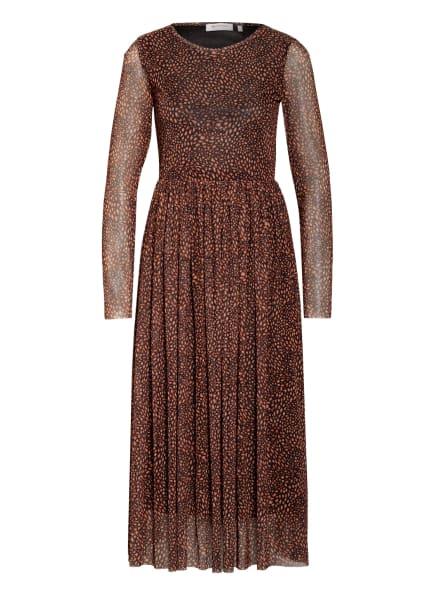 rich&royal Kleid , Farbe: SCHWARZ/ DUNKELORANGE/ BEIGE (Bild 1)
