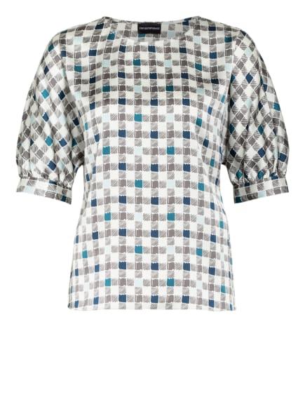 EMPORIO ARMANI Blusenshirt, Farbe: HELLGRAU/ DUNKELGRAU/ DUNKELBLAU (Bild 1)