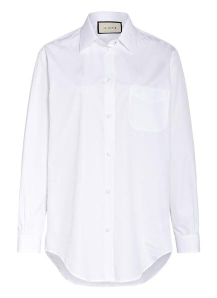 GUCCI Oversized-Hemdbluse, Farbe: WEISS (Bild 1)