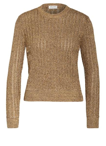 SAINT LAURENT Pullover mit Glitzergarn, Farbe: GOLD (Bild 1)