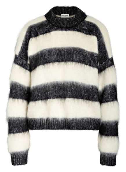 SAINT LAURENT Pullover mit Mohair und Glitzergarn, Farbe: SCHWARZ/ ECRU (Bild 1)