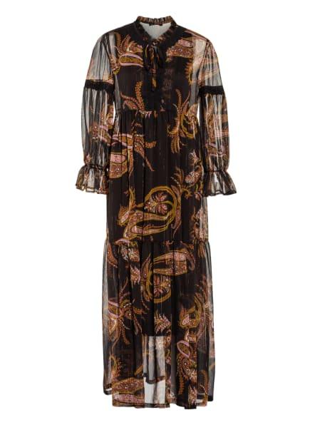 ana alcazar Kleid mit Glitzergarn und Spitzenbesatz, Farbe: DUNKELBRAUN/ LILA/ COGNAC (Bild 1)