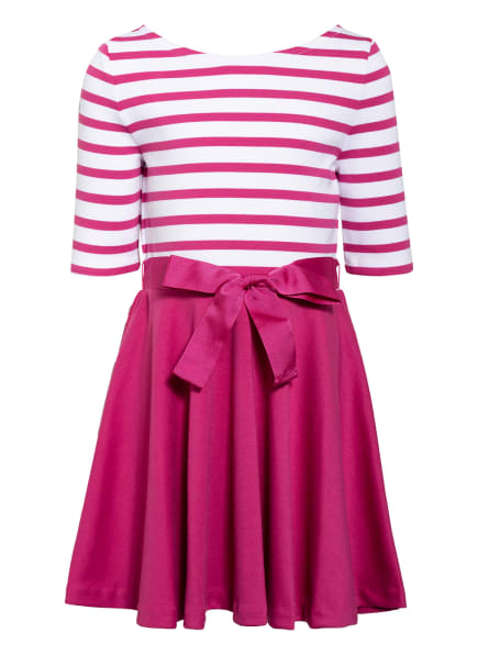 POLO RALPH LAUREN Jerseykleid, Farbe: PINK/ WEISS (Bild 1)