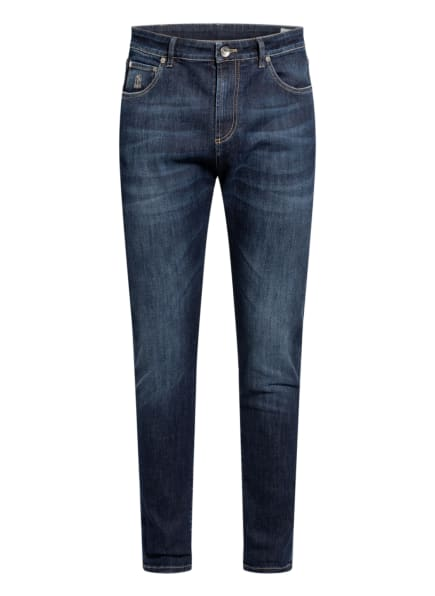 BRUNELLO CUCINELLI Jeans Carrot Fit , Farbe: C1468 Dark Blue (Bild 1)