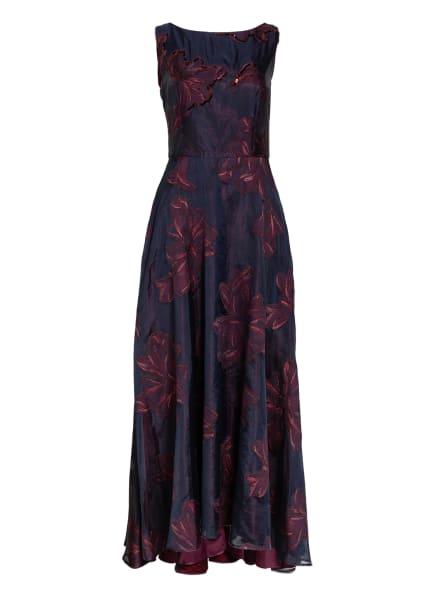 Vera Mont Abendkleid mit Perlen- und Paillettenbesatz, Farbe: DUNKELBLAU/ DUNKELROT (Bild 1)