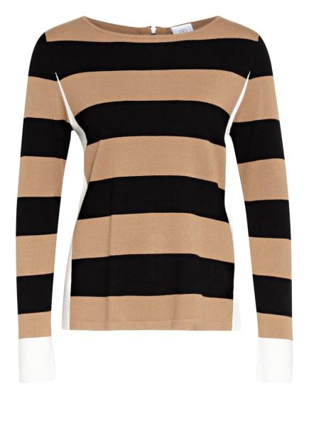 BOGNER Pullover ELLINOR, Farbe: WEISS/ CAMEL/ SCHWARZ (Bild 1)