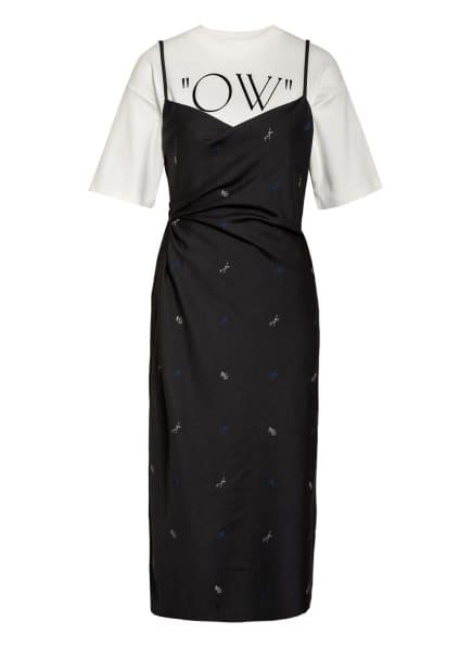 OFF-WHITE Kleid mit Drapage, Farbe: WEISS/ SCHWARZ (Bild 1)