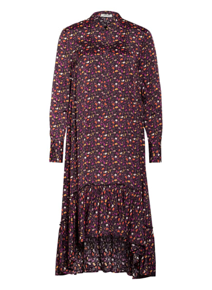 MALVIN Kleid , Farbe: SCHWARZ/ DUNKELLILA/ ORANGE (Bild 1)