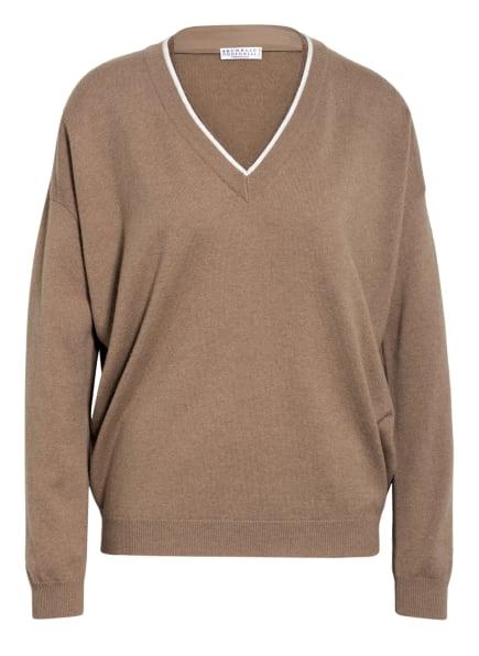 BRUNELLO CUCINELLI Pullover mit Cashmere , Farbe: CAMEL (Bild 1)