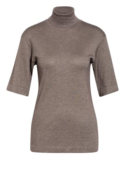 BRUNELLO CUCINELLI Kurzarm-Pullover mit Cashmere , Farbe: TAUPE (Bild 1)