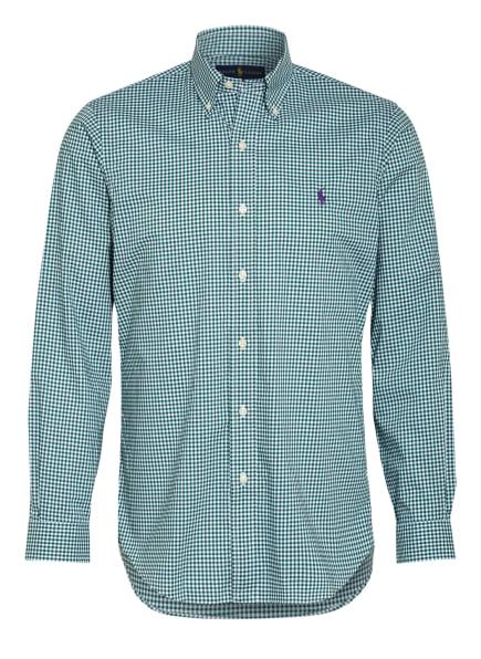 POLO RALPH LAUREN Hemd Custom Fit, Farbe: DUNKELGRÜN/ WEISS (Bild 1)