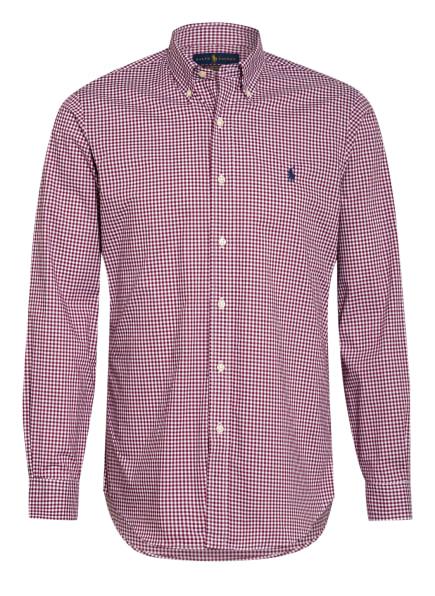 POLO RALPH LAUREN Hemd Custom Fit, Farbe: DUNKELROT/ WEISS (Bild 1)