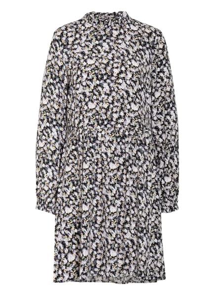 Marc O'Polo DENIM Kleid mit Rüschenbesatz, Farbe: SCHWARZ/ WEISS/ HELLLILA (Bild 1)