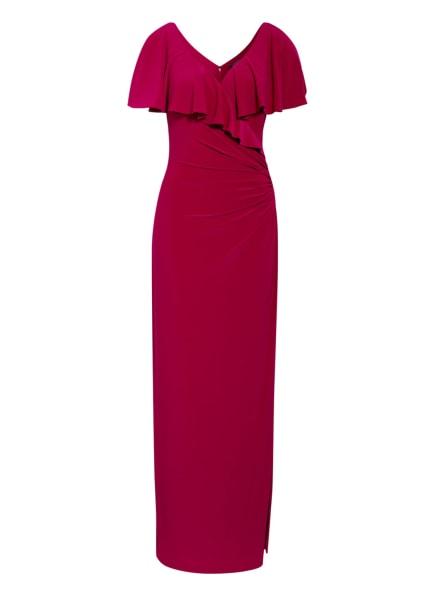 LAUREN RALPH LAUREN Abendkleid mit Volantbesatz, Farbe: FUCHSIA (Bild 1)
