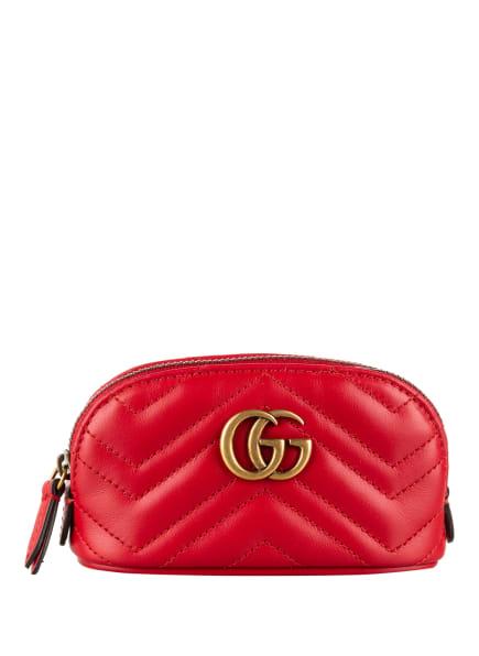 GUCCI Schlüsselanhänger GG MARMONT mit Geldbörse, Farbe: 6433 HIBISCUS RED (Bild 1)