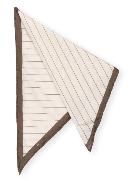EDUARD DRESSLER Dreieckstuch mit Seide , Farbe: CREME/ TAUPE (Bild 1)