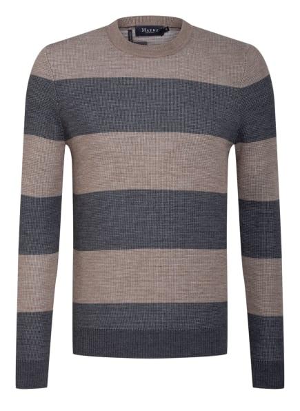 MAERZ MUENCHEN Pullover, Farbe: GRAU/ HELLBRAUN (Bild 1)