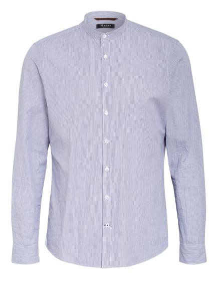 MAERZ MUENCHEN Hemd Classic Fit mit Stehkragen, Farbe: BLAU/ WEISS (Bild 1)