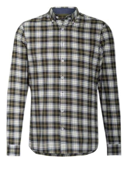 MAERZ MUENCHEN Flanellhemd Regular Fit, Farbe: GRÜN/ WEISS (Bild 1)